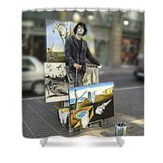 Painter In Spain Series 23 Shower Curtain