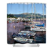 Boats In Spain Series 26 Shower Curtain