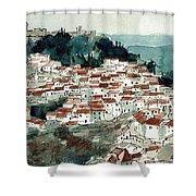 Spanish Hillside Village Shower Curtain