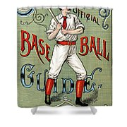 Spalding Baseball Ad 1189 Shower Curtain by Unknown