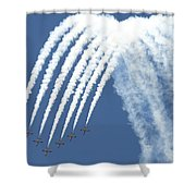 Spanish Air Force C101 Of The Patrulla Shower Curtain