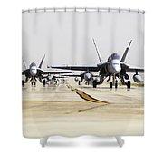 Spanish Air Force Ef-18m Hornets Shower Curtain