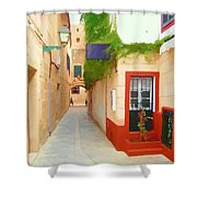 Spanish Alleyway Shower Curtain