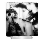 Spanish Cathedral Philippines Shower Curtain