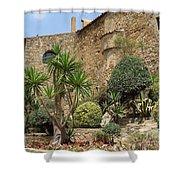 Spanish Church Garden Shower Curtain