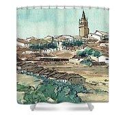 Spanish Church Tower Shower Curtain
