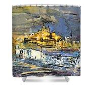 Spanish Harbour 03 Shower Curtain