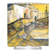 Spanish Harbour 05 Shower Curtain