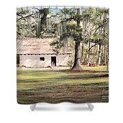 Spanish House Mission San Luis Tallahassee Shower Curtain