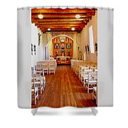 Spanish Mission Church New Mexico Shower Curtain
