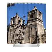 Spanish Mission Trail Shower Curtain