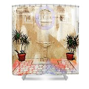 Spanish Patio 03 Shower Curtain