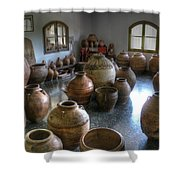 Spanish Pottery Shop Shower Curtain