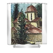 Spanish Rooftops Shower Curtain