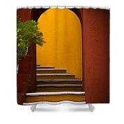 Spanish Stairway Shower Curtain