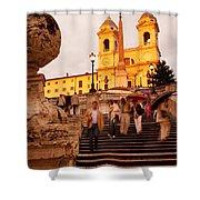 Spanish Steps Shower Curtain