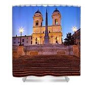 Spanish Steps Dawn Shower Curtain