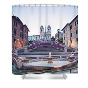 Spanish Steps Famous Stairway Rome Italy Shower Curtain