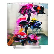 Spanish Town Parade Hats Shower Curtain