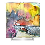 Spanish Village By The River 01 Shower Curtain