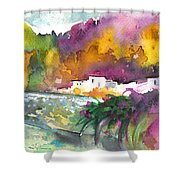 Spanish Village By The River 02 Shower Curtain