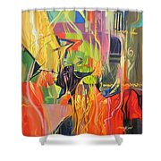 Spark Of Passion Shower Curtain