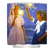 Sparkler Duet Shower Curtain