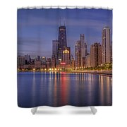 Sparkling Chicago  Shower Curtain