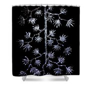 Sparkling Diamond Snowflakes Shower Curtain