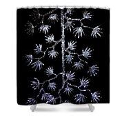 Sparkling Diamond Snowflakes Shower Curtain