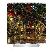 Sparkling Merry Exuberant Decorations Shower Curtain