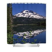 Sparks Lake Reflection Shower Curtain