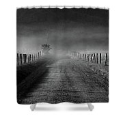 Sparks Lane In Black And White Shower Curtain