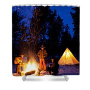 Sparks Of Inspiration Shower Curtain by Inge Johnsson