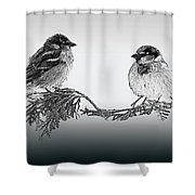 Sparrow Digital Art Shower Curtain