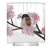 Sparrow Art  Shower Curtain