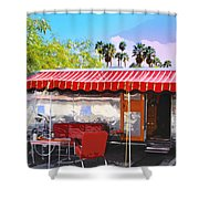 Spartan Manor Palm Springs Shower Curtain