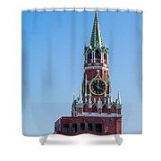 Spasskaya Tower Of Moscow Kremlin - Featured 3 Shower Curtain