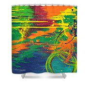 Spatial Slice Diffusion Shower Curtain