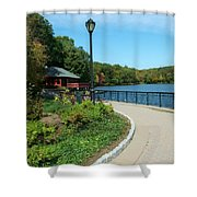 Spaulding Pond In Fall I Shower Curtain