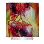 Speaking In Flames Shower Curtain
