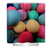 Speckled Easter Eggs Shower Curtain