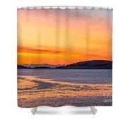 Spectacle Island Sunrise Shower Curtain