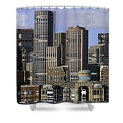 Spectacle View Pixelated Shower Curtain