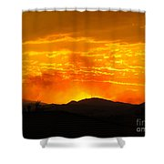 Spectacular Nevada Sunset  Shower Curtain