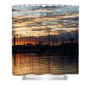 Spectacular Sky - Toronto Beaches Marina Shower Curtain