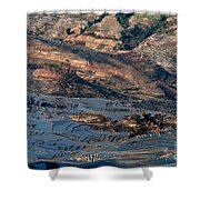 Spectacular View Of Rice Terrace Shower Curtain