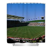 Spectators Watching A Soccer Match, Usa Shower Curtain