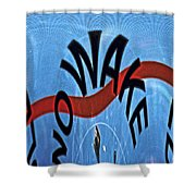 Speed Bump Shower Curtain