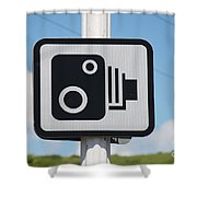 Speed Camera Sign Folkestone Shower Curtain